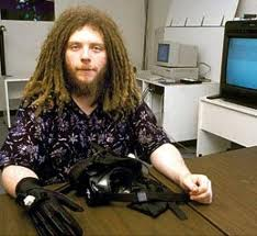 [Jaron lanier circa 1988 at his lab VPL]