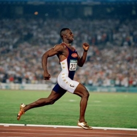 michael johnson @ atlanta olympics, 1996
