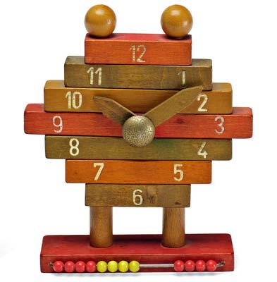 [an early 1960s prototype for a toy clock designed by ettore sottsass, jr.]