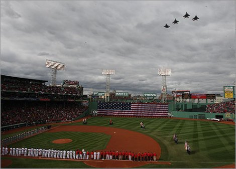 [opening day at fenway park of the 2014 season]