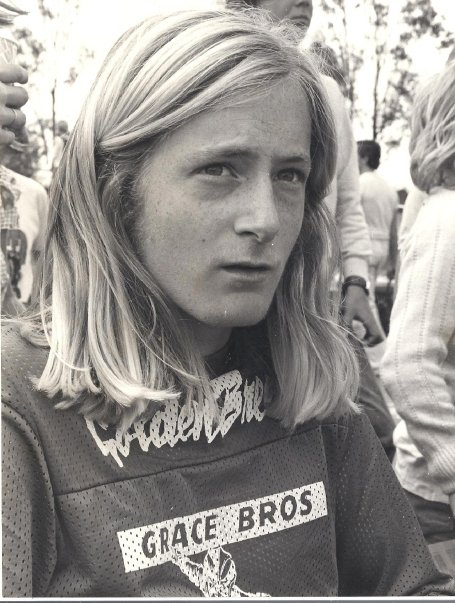 [the original z-boy stacy peralta, director and co-writer of the film]