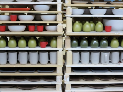 [an array of pottery made just outside san francisco by heath ceramics]